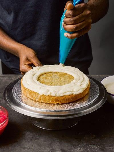 How to bake a cake. Rhubarb X Custard Cake - Step 6