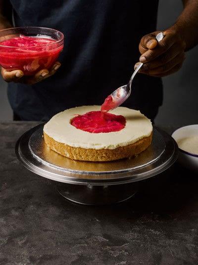 How to bake a cake. Rhubarb X Custard Cake - Step 7