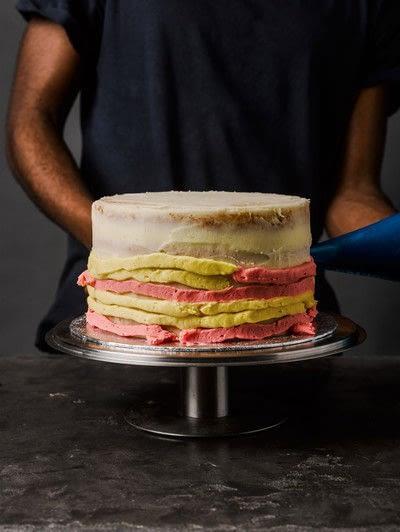 How to bake a cake. Rhubarb X Custard Cake - Step 11