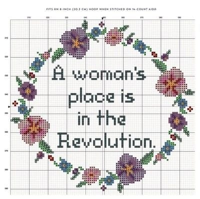 How to cross stitch art. A Woman's Place Is In The Revolution Cross Stitch - Step 2