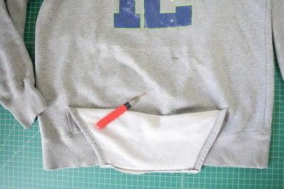 How to make a hoodie. Diy Cropped Hoodie With Drawstring Waist - Step 1