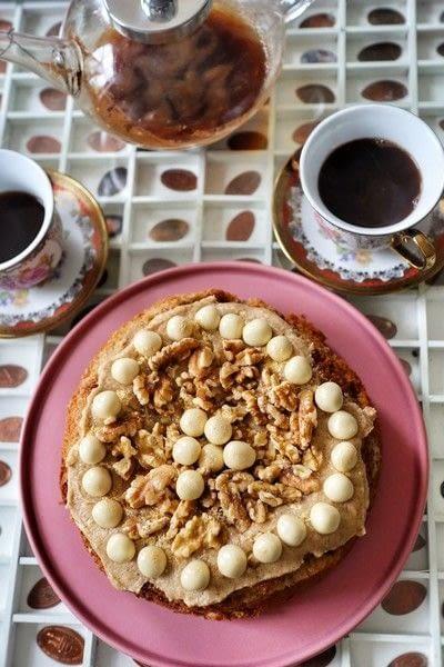 How to bake a coffee cake. Turkish Coffee Cake - Step 15