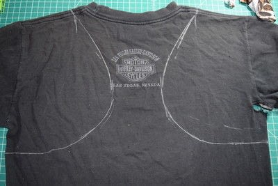How to make a revamped t-shirt. Easy T Shirt To Racerback Tank Top Diy Upcycle - Step 2