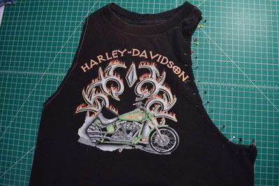 How to make a revamped t-shirt. Easy T Shirt To Racerback Tank Top Diy Upcycle - Step 4