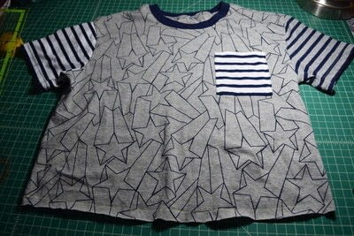 How to make a revamped t-shirt. Diy T Shirt Upcycle To Cropped Top With Lace Up Detail - Step 1