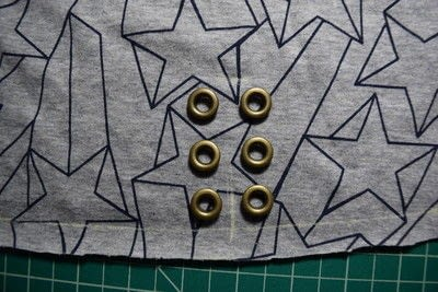 How to make a revamped t-shirt. Diy T Shirt Upcycle To Cropped Top With Lace Up Detail - Step 4