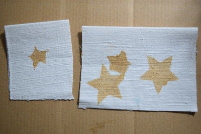 How to embellish an embellished sweater. Diy Pearl Embellished Sweater With Fabric Paint Stars - Step 2
