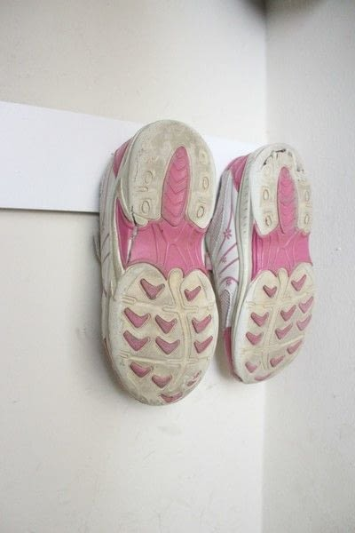 How to make a hook or hanger. Entry Closet Shoe Hooks - Step 7