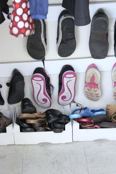 How to make a hook or hanger. Entry Closet Shoe Hooks - Step 8