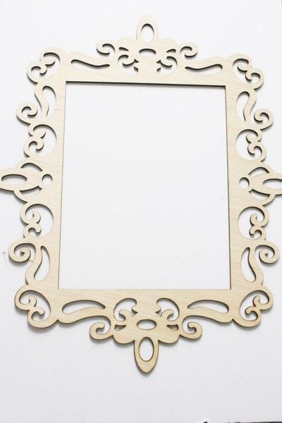 How to make a framed decoration. How To Create An Elegant Place Card Display - Step 1