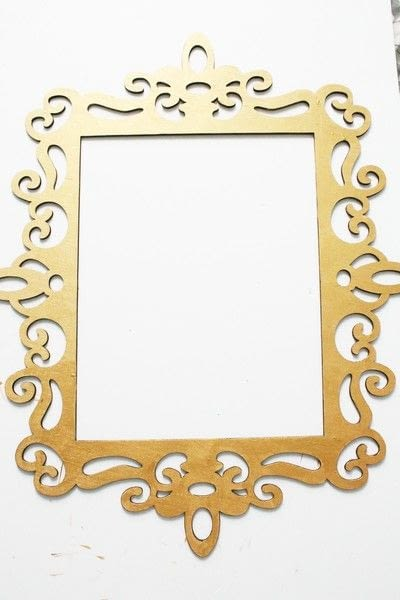 How to make a framed decoration. How To Create An Elegant Place Card Display - Step 3