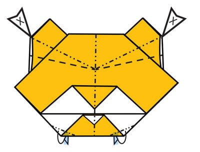 How to make a mask. Origami Tiger Mask - Step 11