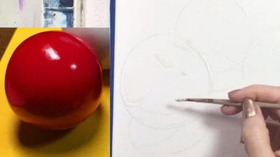 How to paint a piece of watercolor art. Watercolor Still Life - Step 6
