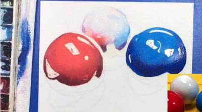 How to paint a piece of watercolor art. Watercolor Still Life - Step 7