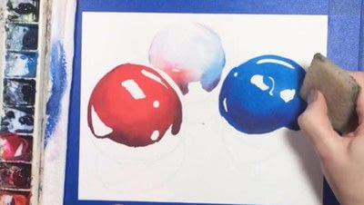 How to paint a piece of watercolor art. Watercolor Still Life - Step 8