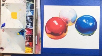 How to paint a piece of watercolor art. Watercolor Still Life - Step 9