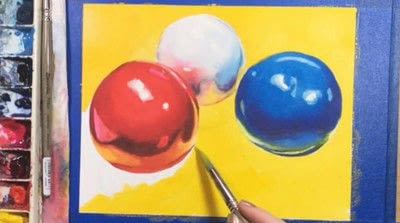 How to paint a piece of watercolor art. Watercolor Still Life - Step 10