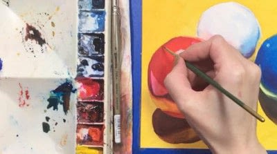 How to paint a piece of watercolor art. Watercolor Still Life - Step 12