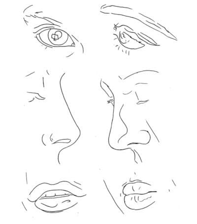 How to create a portrait. Facial Features - Step 3