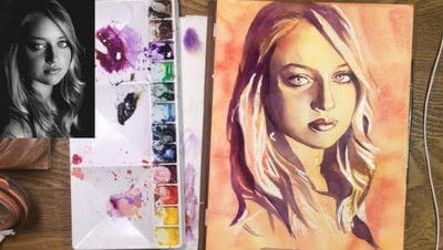 How to create a portrait. Limited Palette Portrait - Step 10