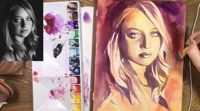 How to create a portrait. Limited Palette Portrait - Step 11