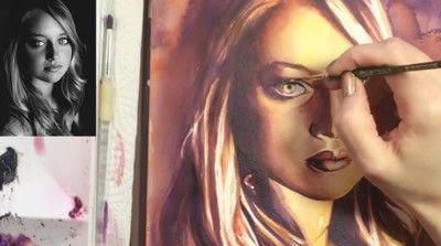 How to create a portrait. Limited Palette Portrait - Step 14