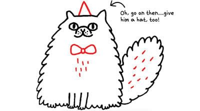 How to draw an animal drawing. Draw A Perky, Fluffy Persian - Step 9