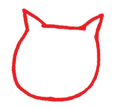 How to draw an animal drawing. Draw A Str-e-e-e-tching Kitty - Step 1