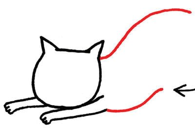 How to draw an animal drawing. Draw A Str-e-e-e-tching Kitty - Step 3