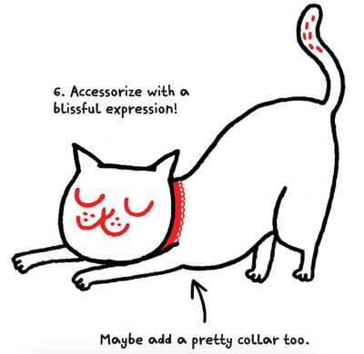 How to draw an animal drawing. Draw A Str-e-e-e-tching Kitty - Step 7