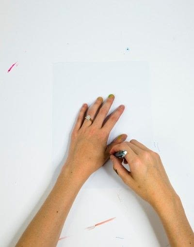How to create a drawing or painting. Polka Dot Pop Art  - Step 1