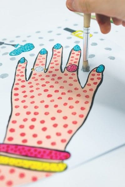 How to create a drawing or painting. Polka Dot Pop Art  - Step 4