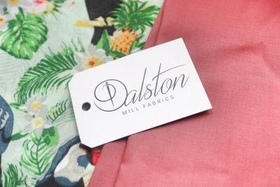 How to make a tablecloth / table runner. Pink & Green Tropical Tablecloth - Step 1