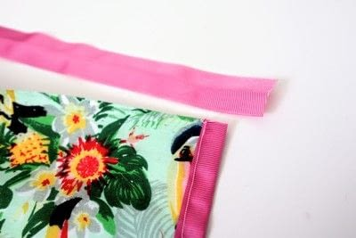 How to make a tablecloth / table runner. Pink & Green Tropical Tablecloth - Step 9