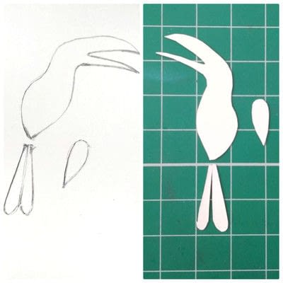 How to cut a piece of papercutting. Forest Craft Ideas - Step 9