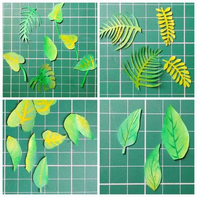 How to cut a piece of papercutting. Forest Craft Ideas - Step 16