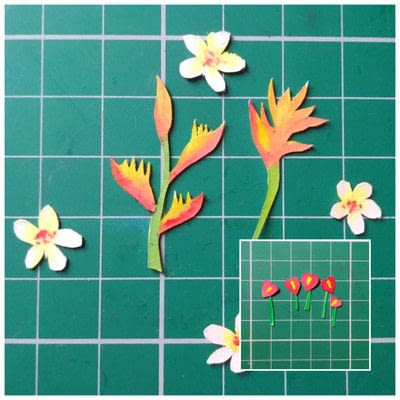 How to cut a piece of papercutting. Forest Craft Ideas - Step 17