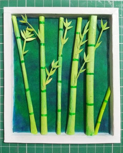 How to cut a piece of papercutting. Forest Craft Ideas - Step 19