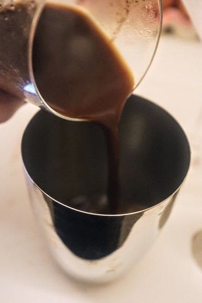How to mix an Espresso Martini. Turkish Espresso Martini - Step 2