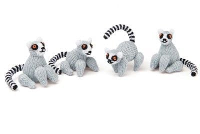 How to make an animal plushie. Knitted Lemur - Step 8