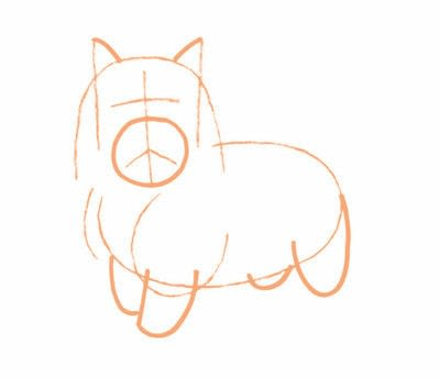How to draw an animal drawing. Draw A Terrior Dog - Step 4