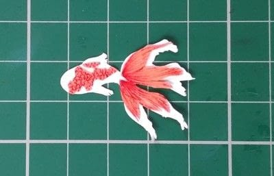 How to make a papercraft. Paper Pond - Step 10
