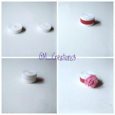 How to fold a piece of quilled art. Quilling Cake - Step 6