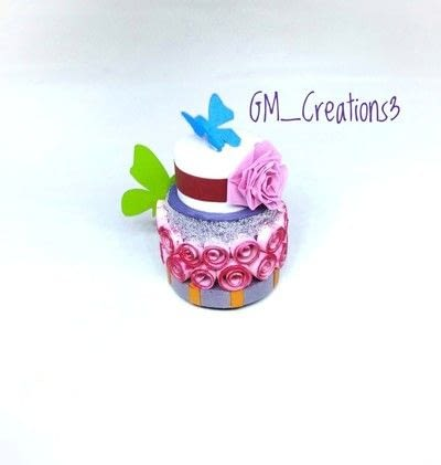 How to fold a piece of quilled art. Quilling Cake - Step 7