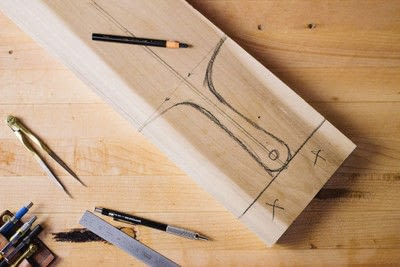 How to make a tray. Whittled Serving Board - Step 2