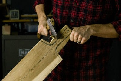 How to make a tray. Whittled Serving Board - Step 5
