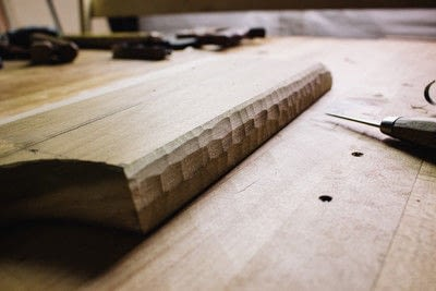 How to make a tray. Whittled Serving Board - Step 9