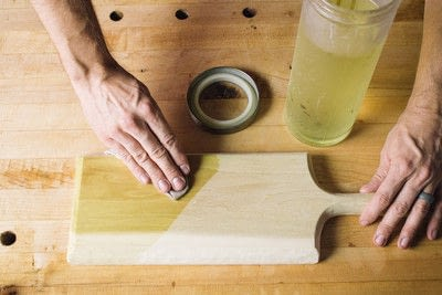 How to make a tray. Whittled Serving Board - Step 11