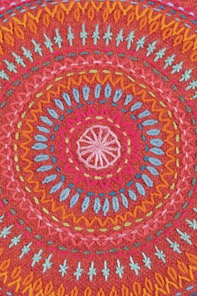 How to make a stitched cushion. Mandala Cushion - Step 4