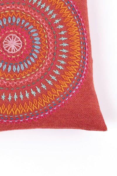 How to make a stitched cushion. Mandala Cushion - Step 5